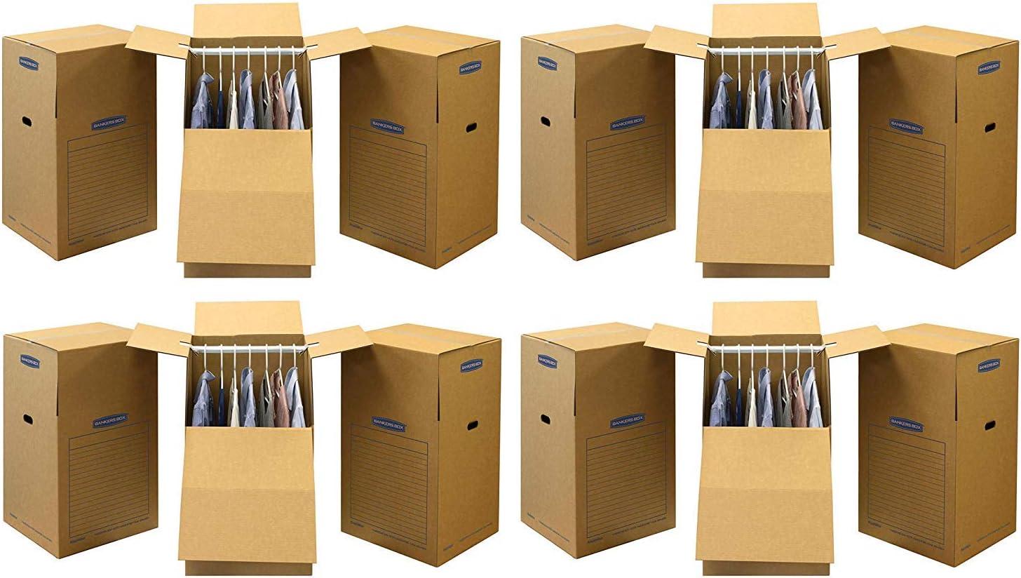 Bankers Box SmoothMove 7711001 - Cajas de mudanza para armario, alto, 60,96 x 60,96 x 101,6 cm (4 paquetes de 3): Amazon.es: Oficina y papelería
