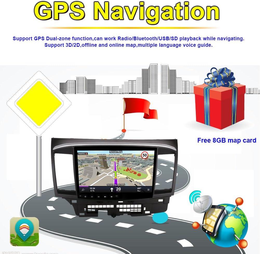 Unidad de radio para salpicadero de coche con Bluetooth GPS Navegación para Mitsubishi Lancer 2007 – 2016, compatible con FM AM RDS 3G WIFI 1080P, salida AV: Amazon.es: Electrónica
