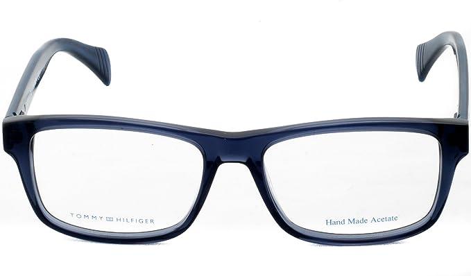 c9ae3d482fd New Original Tommy Hilfiger Full Frame Eyeglasses Th 1255 4Jw Blue 52 Mm   Amazon.co.uk  Clothing