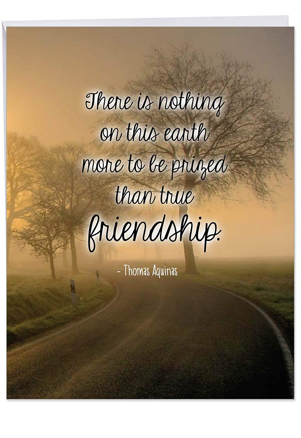 Friendly Words Friendship Birthday\' Greeting Card with Envelope 8.5 x 11  Inch - True Friends Quote by Saint Thomas Aquinas - Nature Design  Stationery ...