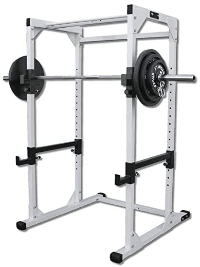 Com Deltech Fitness Df4500 Power Rack With 300 Lb Olympic Weight Set Benches Sports Outdoors
