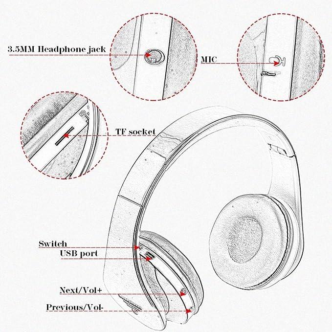 Amazon Com Jiafeng Eb203 Bluetooth Wireless Headphone Bluetooth3 0