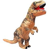 JF deco Halloween per Adulti Gonfiabile T Rex Partito Dinosauro Costume Divertente Dress Brown