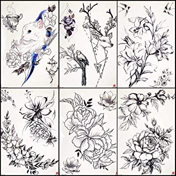 Tatuajes Temporales Niños Dibujo A Lápiz Tatuaje Temporal Para ...