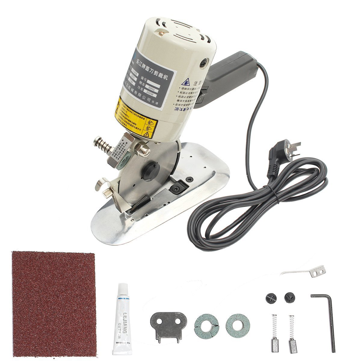 HITSAN 220V 90mm Blade Electric Cloth Textile Cutter Fabric Cutting Machine Saw One Piece