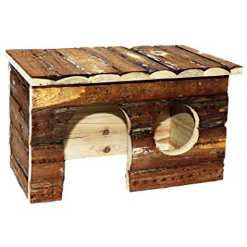 Pet Ting Natural Living Jerrik Log House 28 x 16 x 18 cm Hamster Rat Guinea