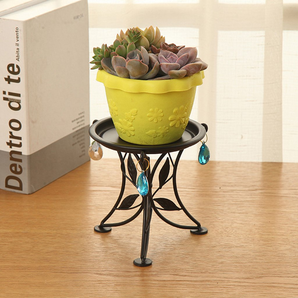 LCMJ Creative Iron Art Mini Flower Stand Living Room Desktop Plant Stand Balcony Succulent Flower Shelf Lightweight 1lb