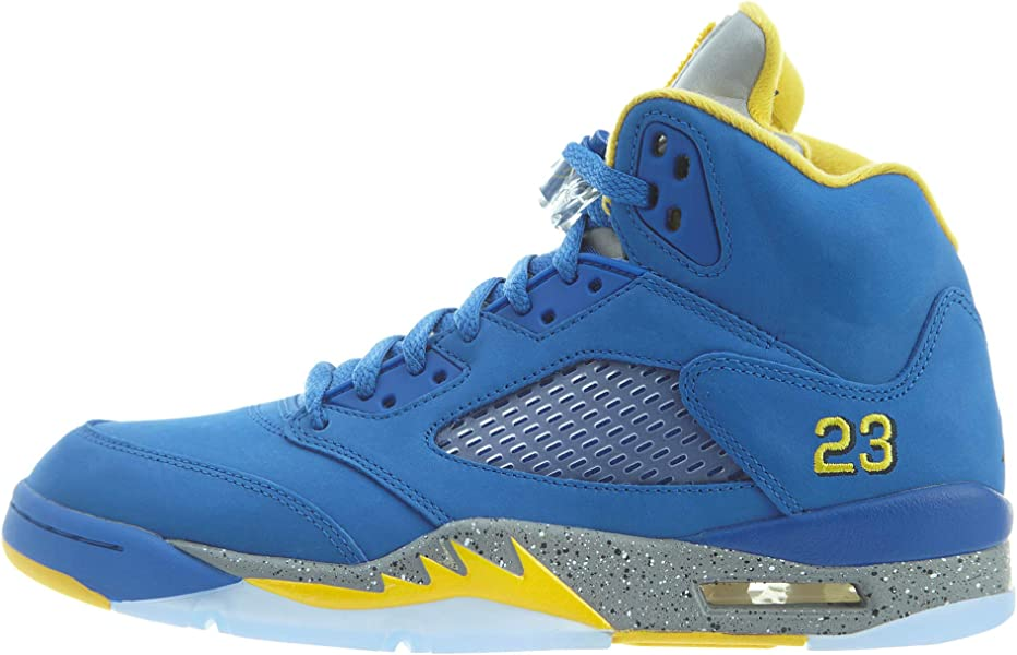 b9b98170386 Amazon.com | Nike Air Jordan 5 Laney Jsp Mens Cd2720-400 Size 8 Blue |  Basketball