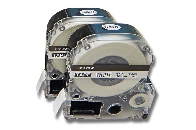 original vhbw® Label Tape 12mm SCHWARZ-BLAU für EPSON LabelWorks LW-400