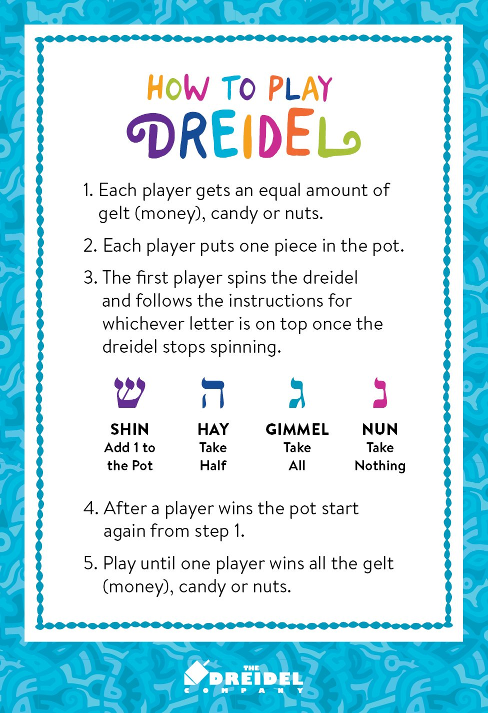 Amazon Lets Play Dreidel The Hanukkah Game 2 Extra Large Wood