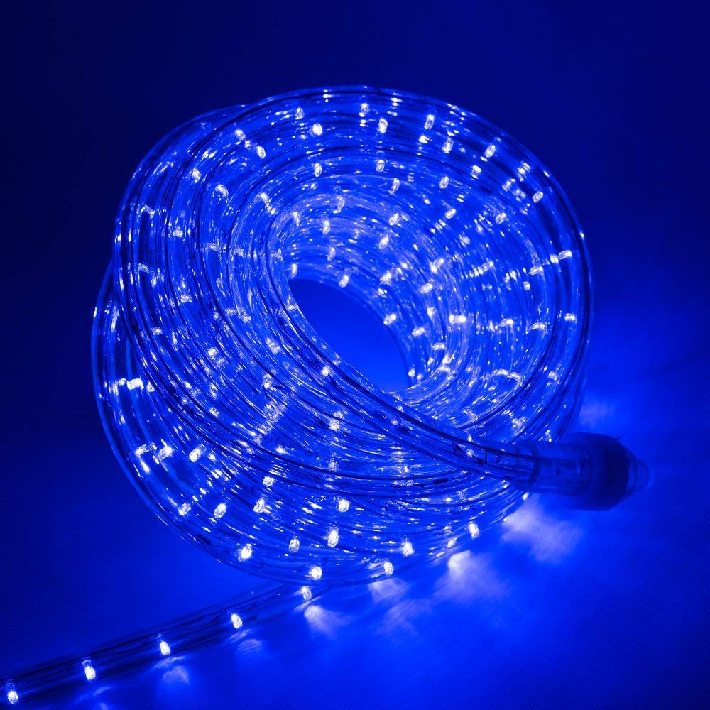 West Ivory 3/8'' (150' feet) Blue LED Rope Lights 2 Wire Accent Holiday Christmas Party Decoration Lighting (10', 20', 25', 50', 150' ft Option)| ETL Certified