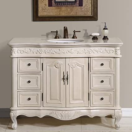 charming birch bathroom vanity cabinets. Silkroad Exclusive Countertop Marble Single Sink Bathroom Vanity with White  Oak Finish Cabinet 48 Amazon com