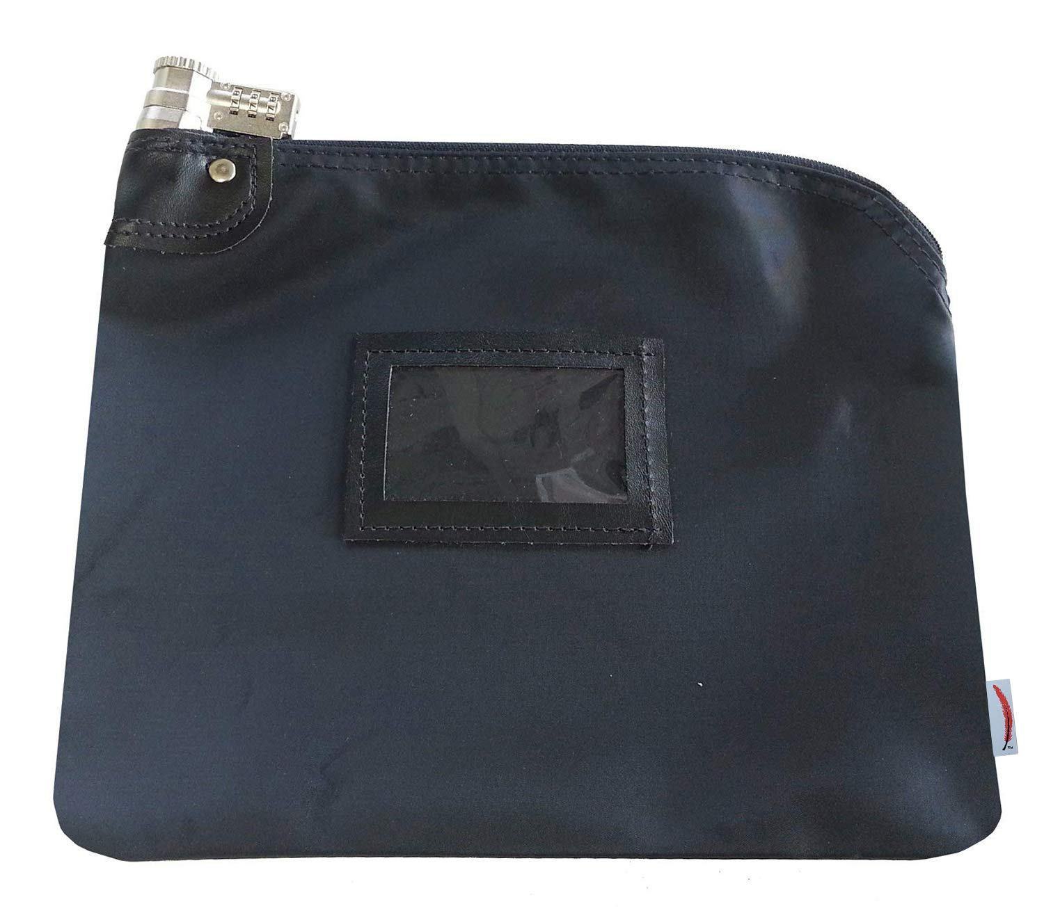 Locking Bank Bag Laminated Nylon Combination Keyed Security System (Navy Blue) by Cardinal bag supplies