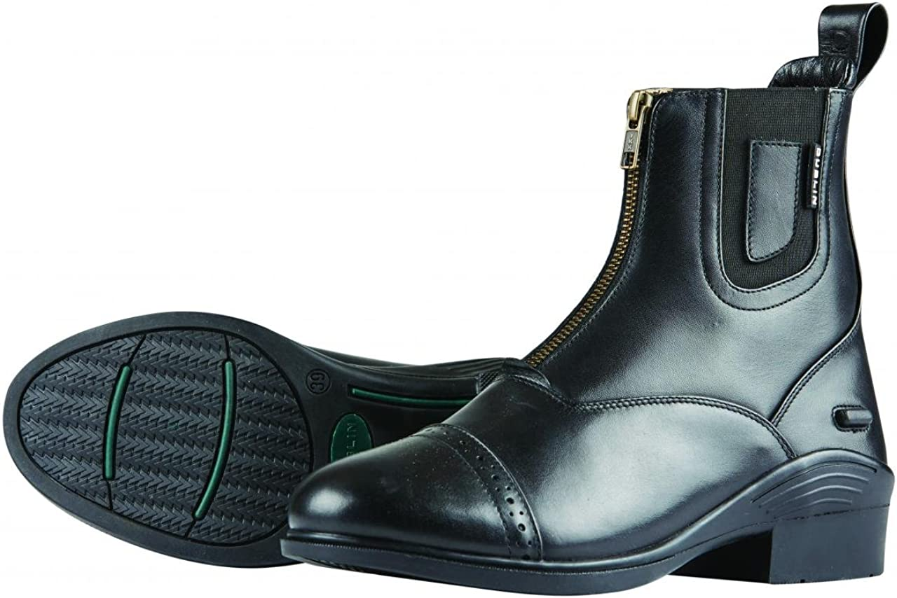 Image of Dublin Evolution Zip Front Paddock Boots Black Ladies 8 Equestrian Sport Boots