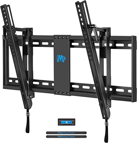 Mounting Dream Tilt TV Wall Mount TV Bracket for Most of 42-70 Inches TV, TV Mount Tilt up to 20 Degrees with VESA 200×100 to 600x400mm and Loading 132 lbs, Fits 16 , 18 , 24 Studs MD2165-LK