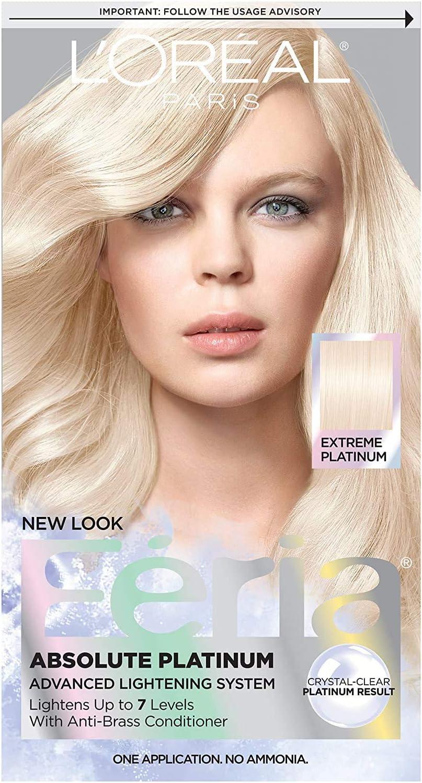 LOreal Feria Absolute Platinums Hair Color, Extreme Platinum