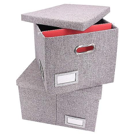 File Storage Box Collapsible   File Box Hanging File Box Organizer Filing  Box Decorative Office Box