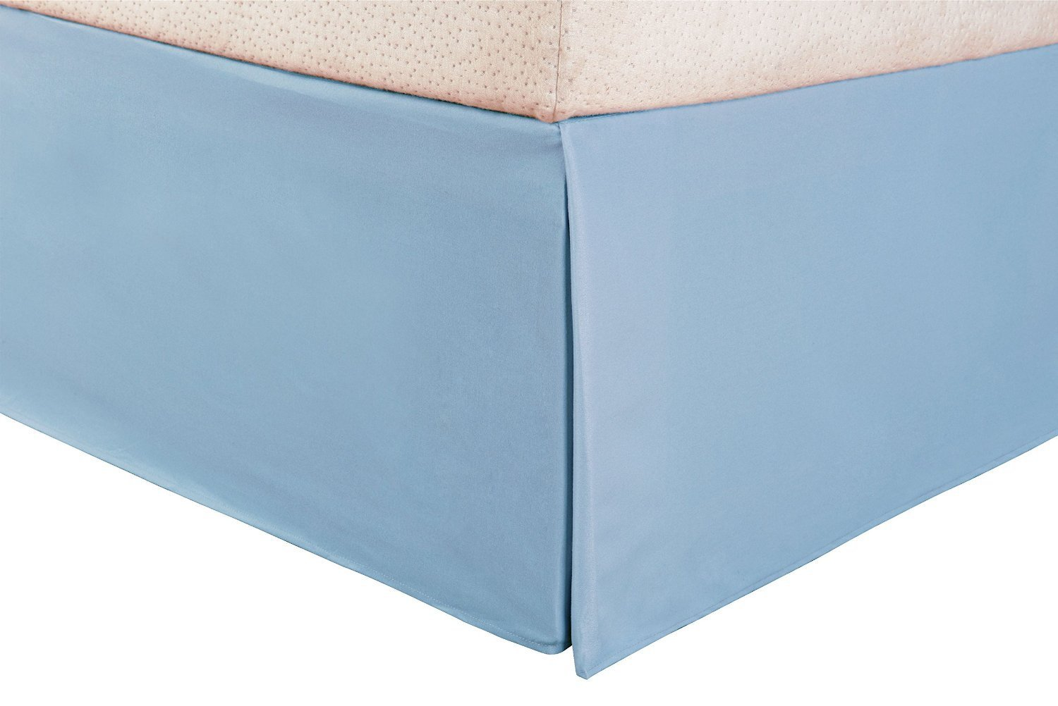 SRP Bedding Real 210 Thread Count Split Corner Bed Skirt Dust Ruffle King Size Solid Light Blue 9 inches Drop Egyptian Cotton Quality Wrinkle /& Fade Resistant