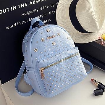 88a5f03c8d Rivets backpack shoulder bag women handbag tide fashion wild small fresh  mini bag ( Color
