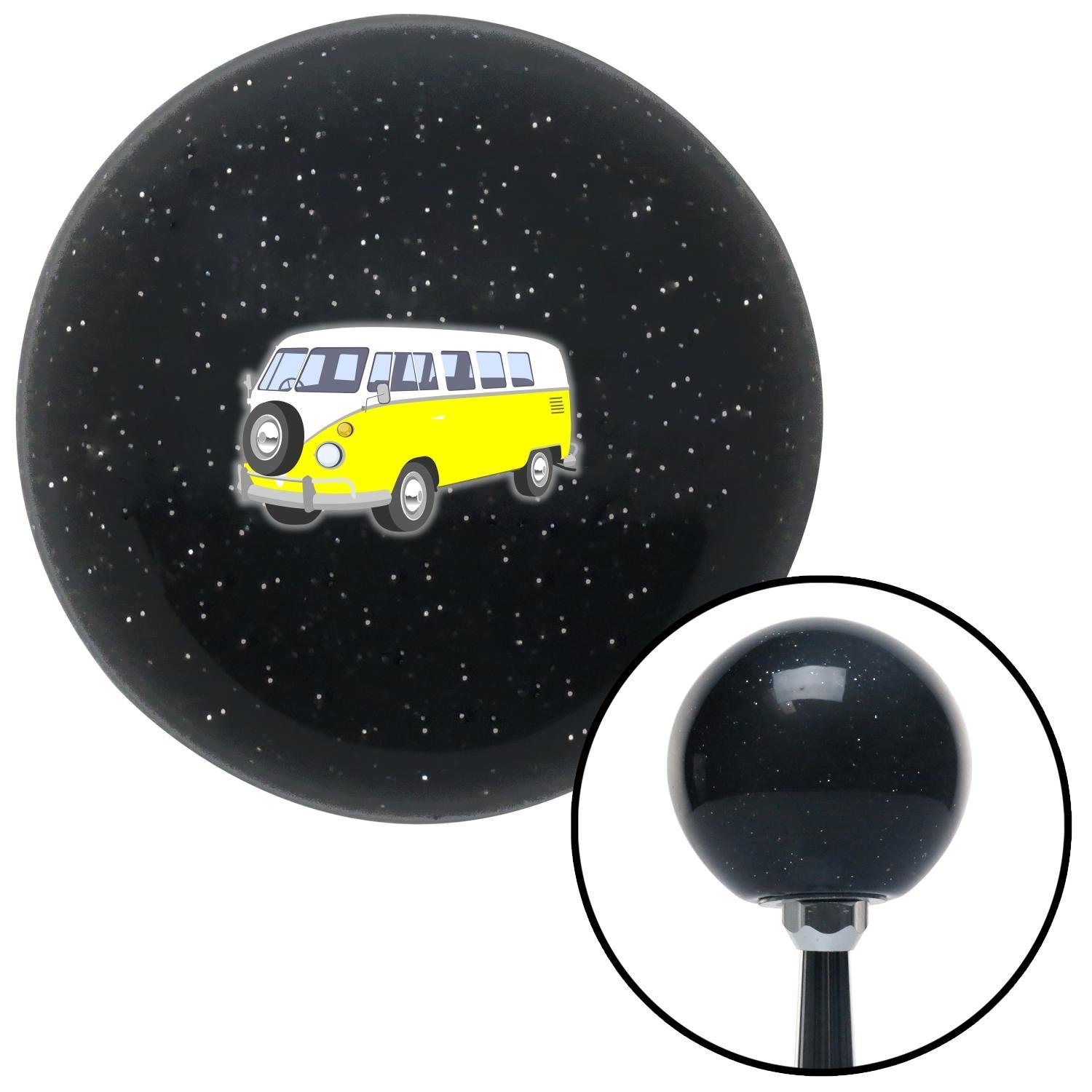 Yellow Camper American Shifter 78558 Black Metal Flake Shift Knob with M16 x 1.5 Insert
