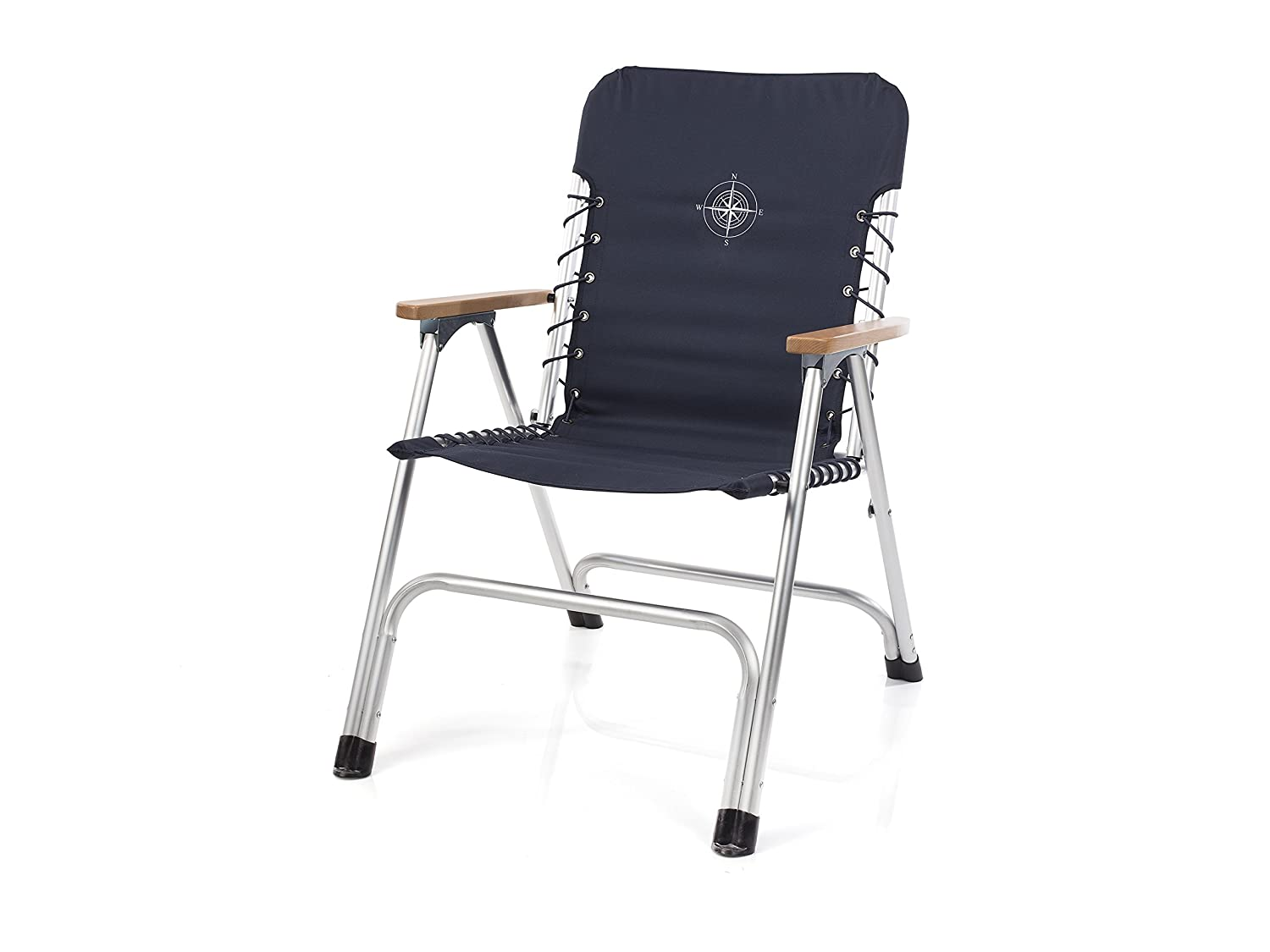 Campart Travel Folding chair – Nautical design – Elastic cord Smartwares CH-0623
