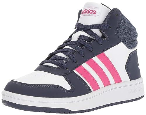 0bcf1522370 adidas Kids Girls Boots Shoes Hoops Mid 2 Sporty Sneaker Fashion New B75746  (EU 34