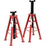 Sunex 1410 10-Ton, High Height, Pin Type, Jack Stands, Pair