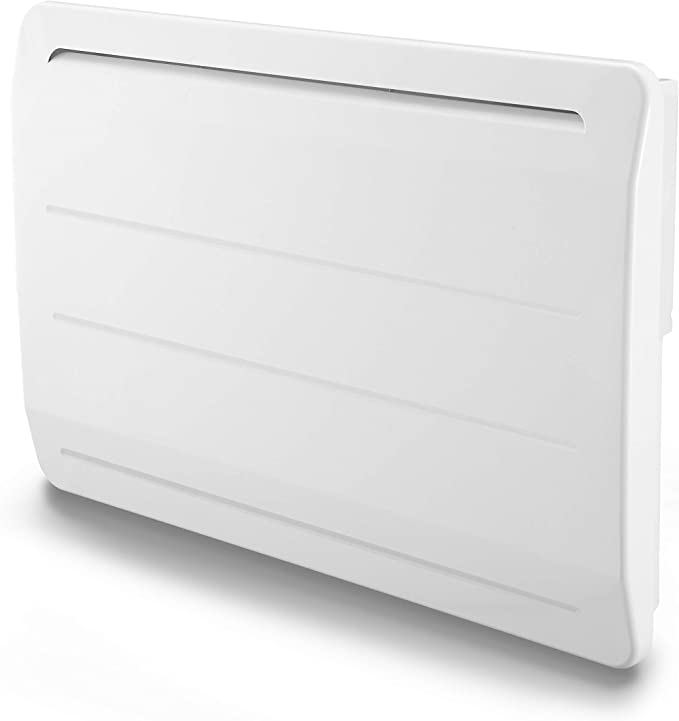 VOLTMAN VOM540034 - Radiateur en Fonte - 1500 Watts - Détecteur de Fenetre Ouverte - LCD Programmble - Blanc