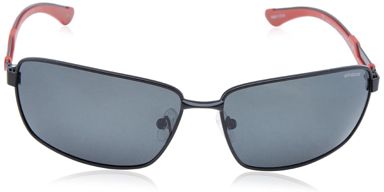 6e656f89947 POLAROID PREMIUM Sunglasses X 4413 S 00A2 Black Red 63MM  Amazon.co.uk   Clothing