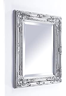 2a318032dff93 Beautifully Ornate Antique Silver Vintage Style Wall Mirror with Bevelled  Glass - Overall Size  21