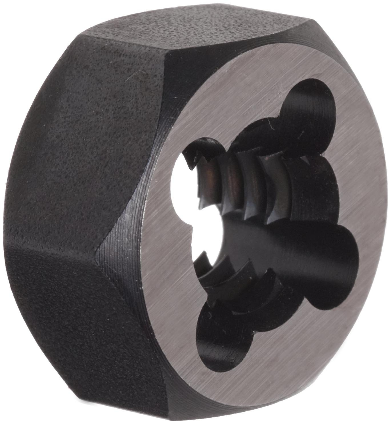 Union Butterfield 2025(UNC) Carbon Steel Hexagon Threading Die, Uncoated (Bright) Finish, 7/16''-14 Thread Size