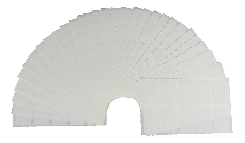 250 Adesivi per la casa e congelatori bianchi - Etichette congelate 30x20mm autoadesivo di JustRean