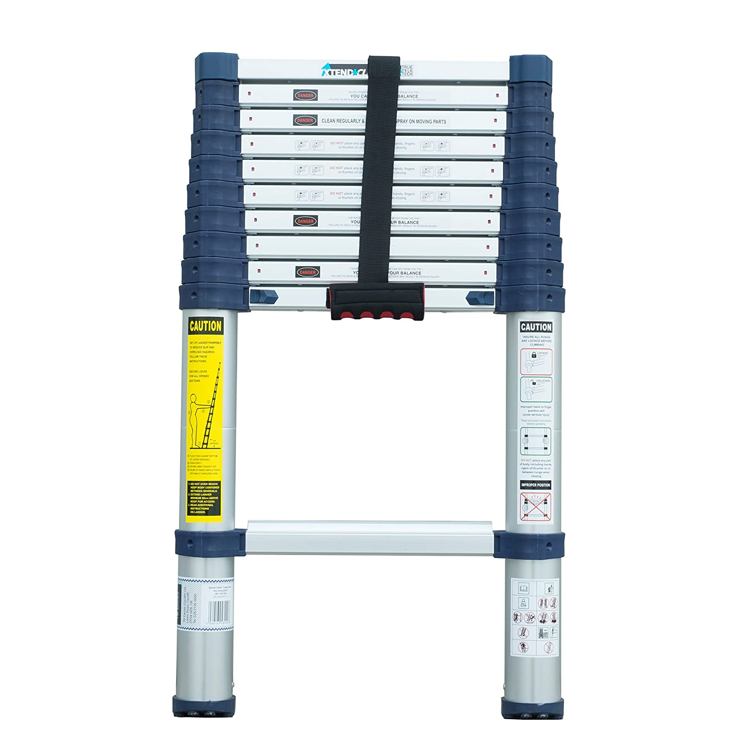 Xtend+Climb Plus Series 3.2m Telescopic Ladder (920P) | Extends to over 8.5ft | Stores in a Cupboard or Car Boot 1303-050