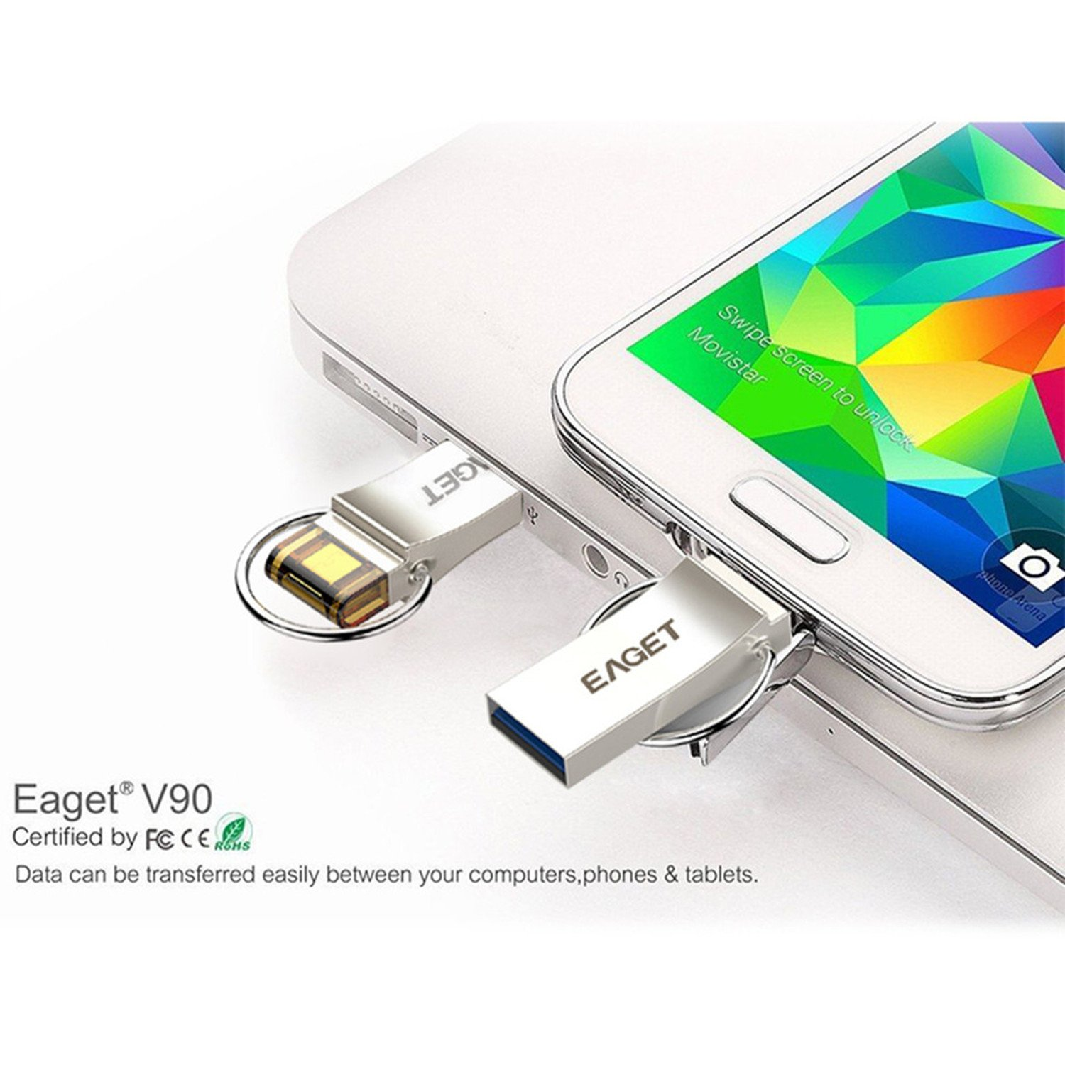 Amazon.com: EAGET V90 2 nd Gen 16 GB USB 3.0 Micro USB OTG ...
