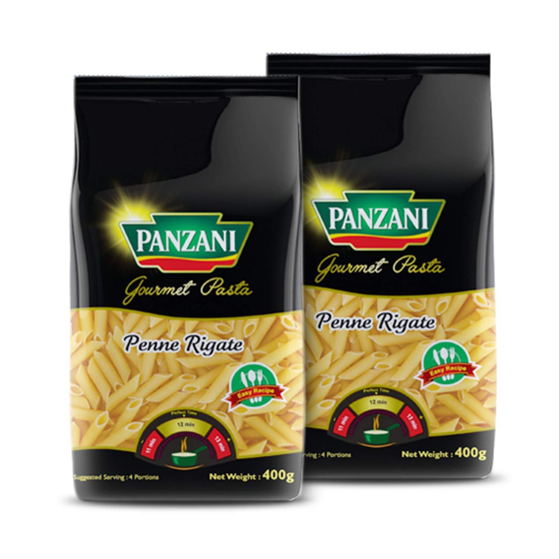 Panzani Gourmet Penne Rigate Durum Wheat Pasta, 2 x 400g