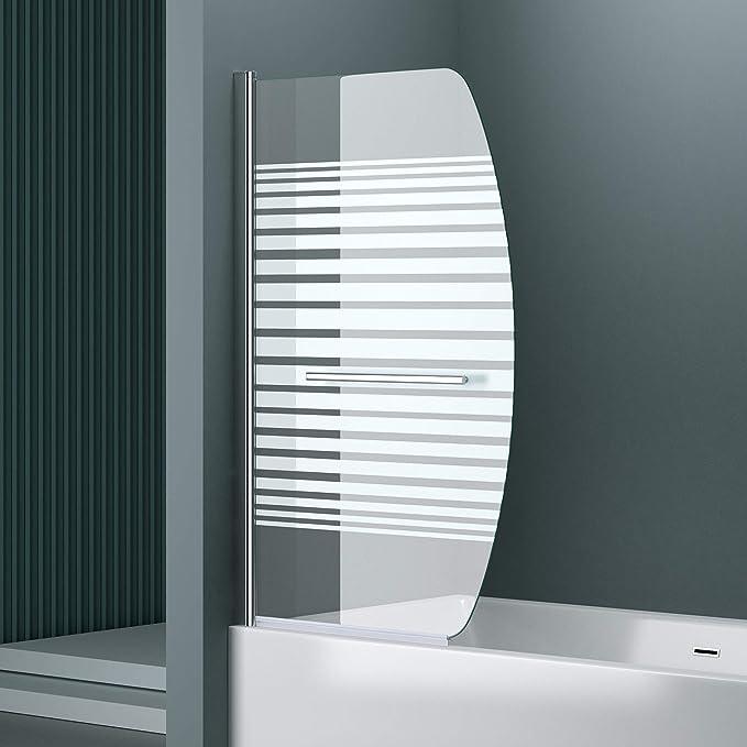 BxH: 94 x 140 cm diseño Mampara/Ducha Pared para sus bañera cortona112s, vidrio templado de 6 mm de cristal de seguridad satinado, incluye Nano revestimiento de: Amazon.es: Bricolaje y herramientas