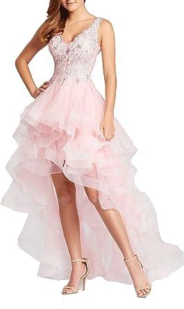 Ladsen Hi-Lo Designers Prom Dresses Pink US18W Size