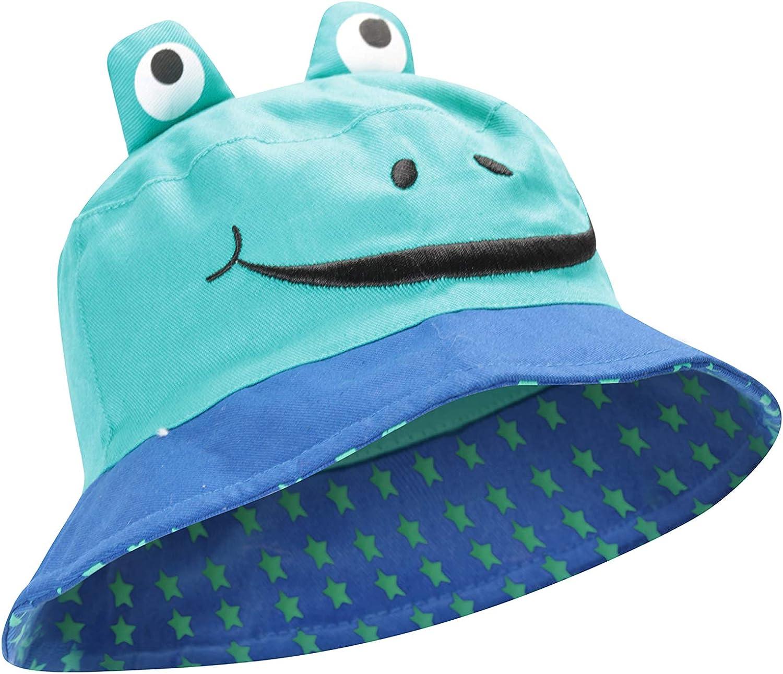 100/% del Cubo Mountain Warehouse El Buho Embroma el Sombrero del Sol del algod/ón del Sombrero el Casquillo de los ni/ños f/áciles del Cuidado