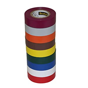 3M Scotch 35 Electrical Tape Rainbow Packs: 1/2 in. x 20 ft. (9-pack)