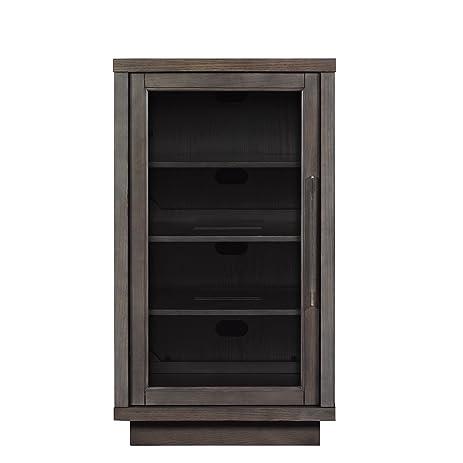 Amazon.com: Pamari 200439 Zanica Stereo Cabinet with Glass Door ...