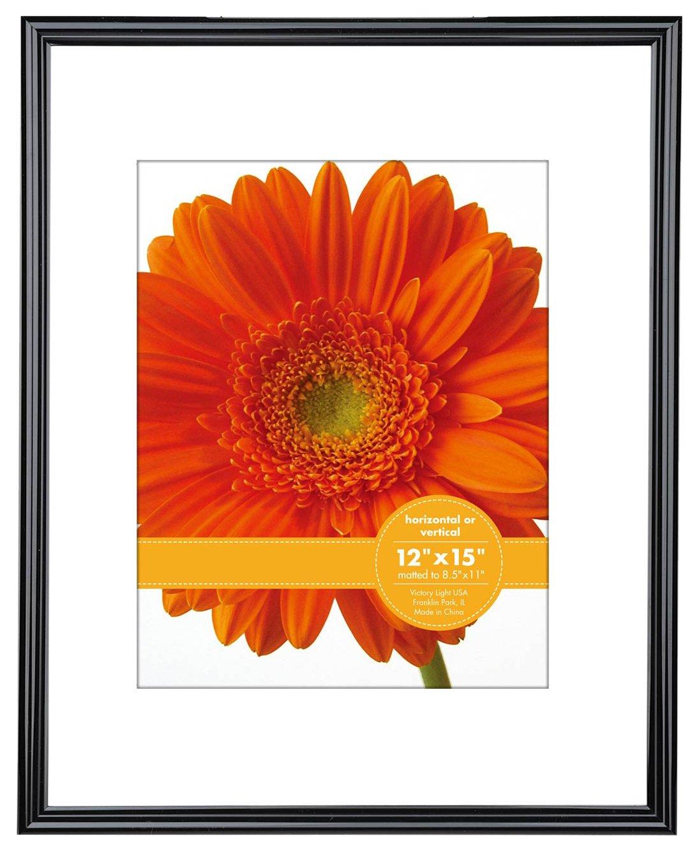 V-LIGHT   Poster Frame 12'' x 15'', Pack of Two, Black  (VF0023B.1215.2)
