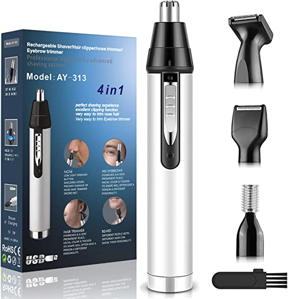 Cleanfly Nose Ear Hair Trimmer - The Best Nose Trimmer With Smart USB Charge