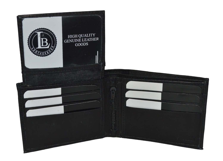 二つ折りブラックレザー財布ID Windows B0039BDWLG