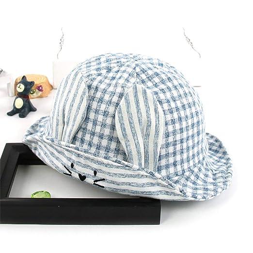 a904b13804d Summer Sun Hat Cotton Baby Hat Kids Child Cap Bucket Hat Boys Girls Sun Cap  Ear