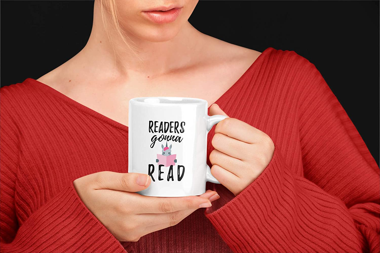 Birthday Present Idea for Readers and Literature Lovers. Funny Reading Gifts Readers Gonna Read 11 oz Librarian//Bookworm Coffee Mug Featuring a Unicorn Reading a Book
