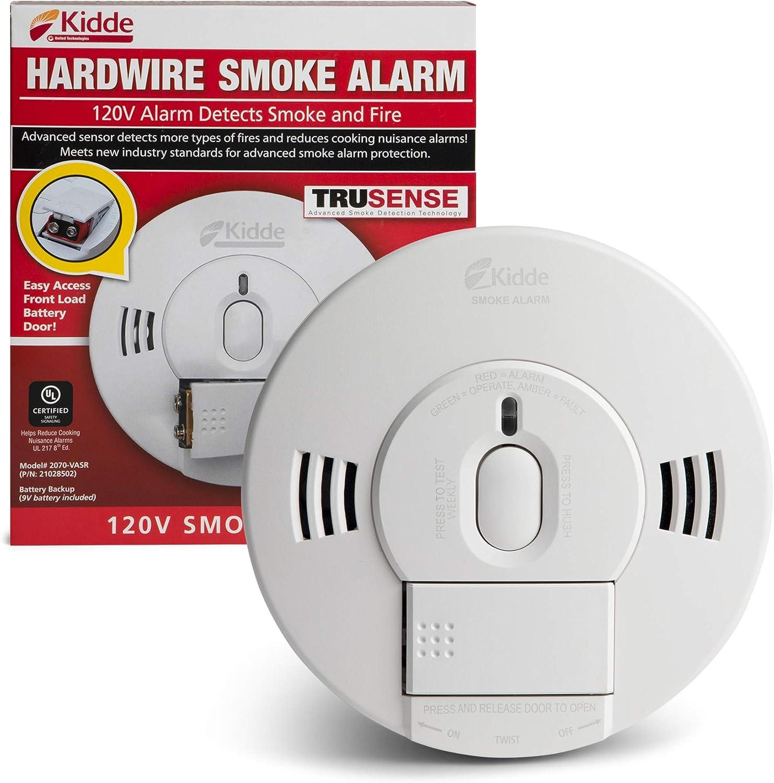 Kidde 21028502 Ac Dc Wire In Smoke Alarm Detector With Trusense
