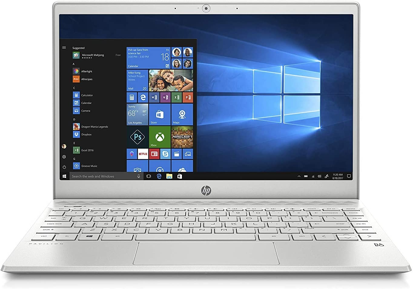 Latest_HP-Pavilion 13-inch Light and Thin High Performance Laptop,Intel Core i5-8265U Processor,8GB DDR4 RAM,256GB SSD, Webcam,Wireless+Bluetooth, HDMI,Window 10