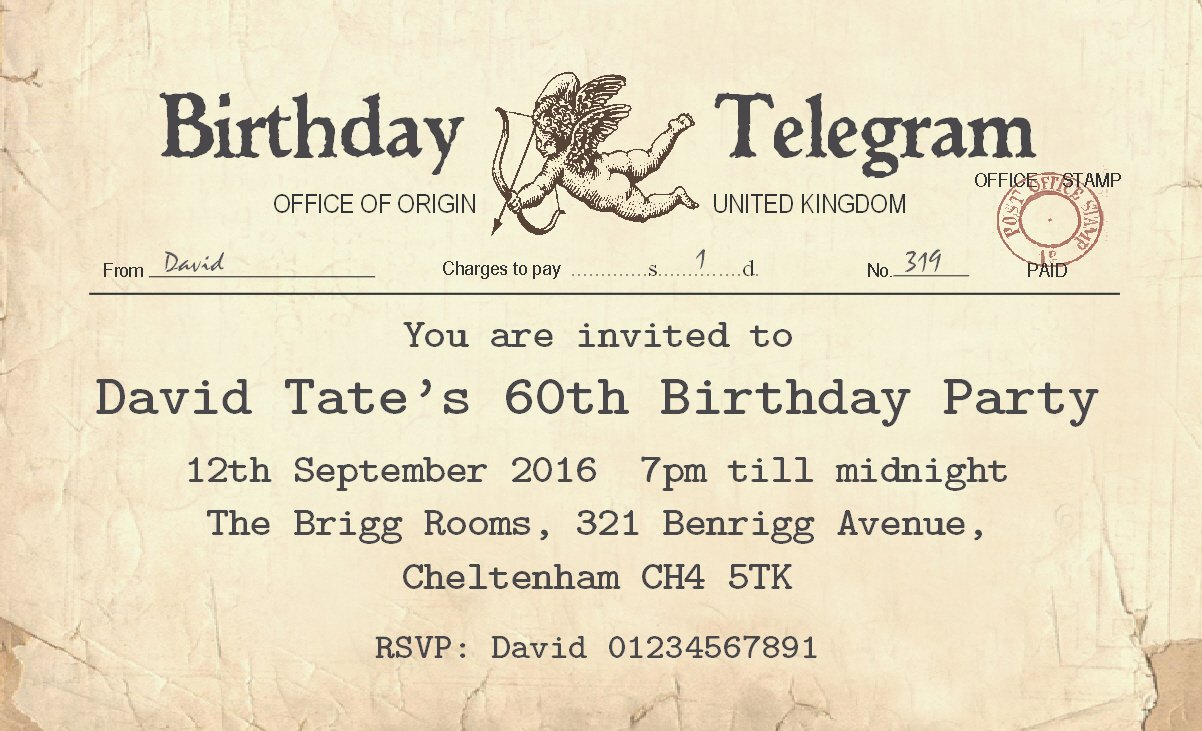 Personalised 70th Birthday Invitations Uk | Inviview.co