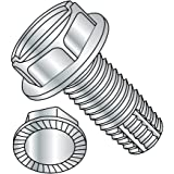 3//8-16 Thread Size Pack of 800 Type F 1 Length 3//8-16 Thread Size 1 Length Pack of 800 Small Parts 3716FSW Steel Thread Cutting Screw Hex Washer Head Zinc Plated Finish Slotted Drive