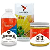 Bulletproof - Grass-Fed Ghee, (13.5 oz), Brain Octane Oil, Reliable and Quick Source of Energy (16 Ounce), Original Ground Coffee (12 oz) + Bonus UBEN Refillable Plastic Container
